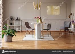 Anlage Und Malerei Grau öffnen Raum Innenraum Mit Stühlen