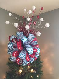 Red White and Blue Christmas Tree Toppers for Your Patriotic Christmas Tree
