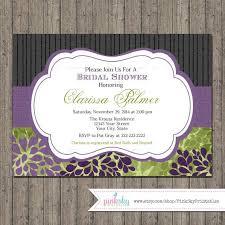 Black And Purple Invitations Elegant Bridal Shower Invitations Printable Floral Bridal