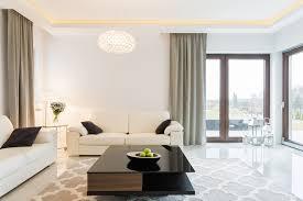 modern lighting for living room. bright white living room with modern lighting for