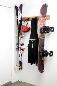 wall mounted ski rack for rocker gear