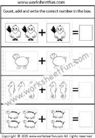 Picture Addition – Beginner Addition – 4 Kindergarten Addition ...picture addition