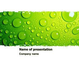Water Drops Template Green Water Drops Powerpoint Template Backgrounds 05216
