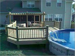 above ground pool with deck attached to house. Swiming Pools Decks For Above Ground Swimming With Wooden Fence Also Hand Rails And In Steps Besides Stainless Outdoor Table Metal Patio Chair Pool Deck Attached To House Pinterest