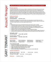 Cv For Account Manager 13 Account Manager Resume Templates Samples Examples