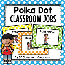Polka Dot Classroom Jobs Worksheets Teaching Resources Tpt