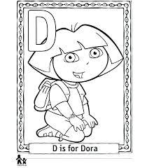 coloring printable the explorer coloring pages color alphabet free dora book pdf
