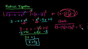 solve a radical equation use ti 84 to check solution