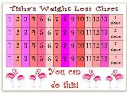 Weight Watchers 5 Chart Details About Personalised Weight Loss Chart Flamingo Slimming World Weight Watchers