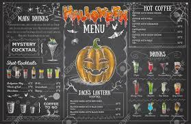 Design A Menu Free Vintage Chalk Drawing Halloween Menu Design Restaurant Menu