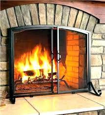 fireplace doors and screens large fireplace doors com extra gas fireplaces screens with spark guard corner fireplace doors