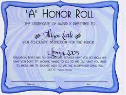Best Solutions Of Recognition Certificate Wording With Honor Roll