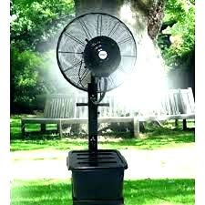 wall mount misting fan outdoor oscillating air king