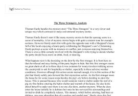 the three strangers analysis gcse english marked by teachers com document image preview