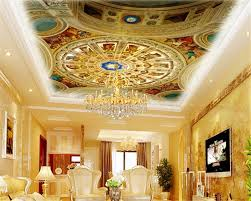 European Classical Interior Design Us 16 8 44 Off Beibehang Custom Classic Personality European Style Wall Paper Ceiling Design Interior Decoration Painting 3d Wallpaper Tapety In
