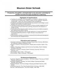 Sample Resume For Registered Resumes Newuate Nurse Objective