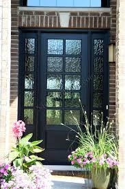 black front door with glass exterior
