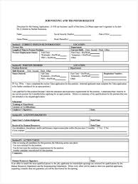 Transfer Request Form 24 Job Transfer Forms Free Documents In Word PDF 6