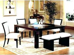 dining room table round rugs what size to put area
