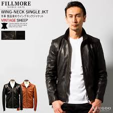 vintage wings neck jacket mens genuine leather lutgorezards wng06a light and soft leather jacket leather