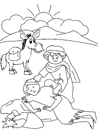 Good Samaritan Coloring Page Free The Good Bible Coloring Pages Plus