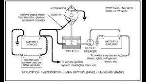 battery isolator 101 youtube rv dual battery setup at Motorhome Battery Wiring Diagram Two