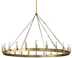 camino vintage filament round chandelier 50 lacquered burnished brass decorist