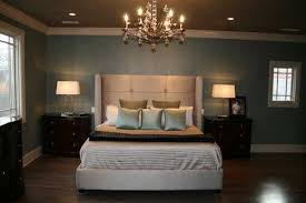 compact classic bedroom decorating ideas with high headboard and gold finished chandelier nightstand lamps for bedroom