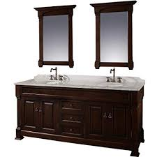 Dark bathroom vanity Wall Wyndham Collection Andover 72 Inch Double Bathroom Vanity In Dark Cherry White Carrera Marble Countertop Amazoncom Amazoncom Wyndham Collection Andover 72 Inch Double Bathroom