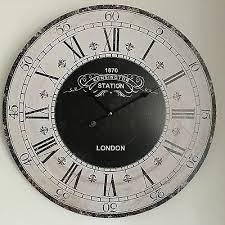 wall clocks large industrial kensington