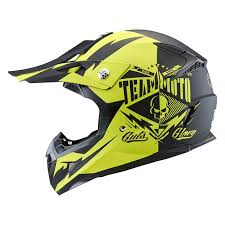 Zox Ym 211 Glory Matte Hi Viz Yellow L Pulse Glory Junior Large Matte Hi Viz Yellow Off Road Helmet