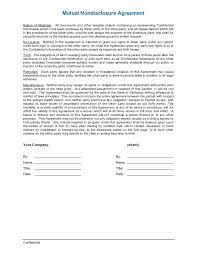 Nda Template Agreement Nda Or Non Disclosure Agreement Template For Business Brokerage Word