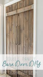 double pantry barn door diy under closet, diy, doors, kitchen design
