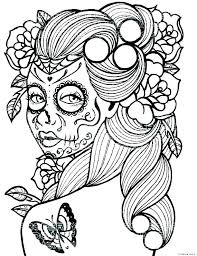 Sugar Skulls Coloring Pages Adult Skull Coloring Pages Fabulous Free