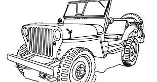 Kleurplaat Safari Jeep