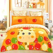 giraffe bed sheets custom orange giraffe apple kids bedding sets giraffe twin bed sheets giraffe bed