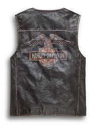 harley davidson harley davidson men leather best men s eagle distressed slim fit leather vest new