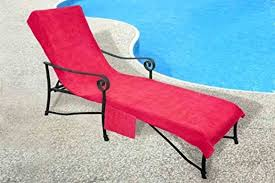 lounge chair towel chaise cover with pocket 100 percent cotton terry cloth crover