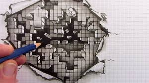 Graph Paper Draw How To Draw An Optical Illusion On Square Grid Paper Mindbenders