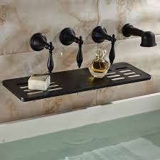 waihilau oil rubbed bronze finish water fall bathtub faucet with soap dish holder hand shower
