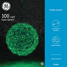 Ge Holiday Classic 100 Light Red Super Sphere Light 75903 Ge Holiday Classics Incandescent Super Sphere