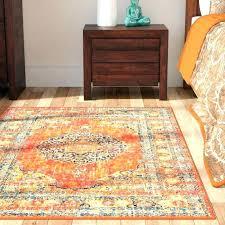 orange brown rug orange area rug brown and burnt rugs 5 x 7 the home