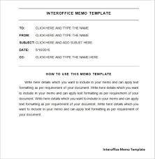 Memo Format Templates 10 Inter Office Memo Templates Resume Samples