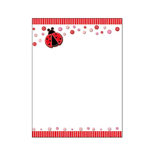 Stationery Letterhead Ladybug Stationery Letterhead 8 5 X 11 Inches 60 Paper Sheets B6515