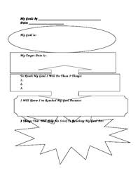 Student Goal Setting Worksheet Free