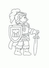Kleurplaat Ridder Malvorlagen Ridders Middeleeuwse Ridder En