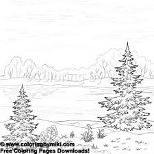 Nature Landscape Coloring Page 1185 Ultimate Coloring Pages