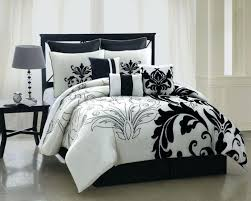 um image for 13 piece queen arroyo black and white bedding bed in a bag set black and white polka dot duvet cover nz