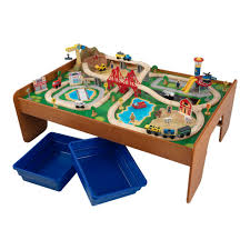 train table set kidkraft costco ride around town piece and instructions new waterfall mountain view