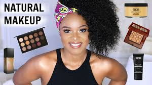 natural looking makeup for black women dark skin women of color hair tutorial ft sunber hair